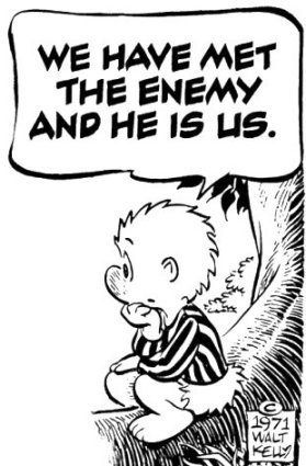 We have met the enemy and he is us.